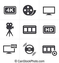 ensemble film, icônes