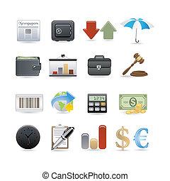 ensemble, finance, icône