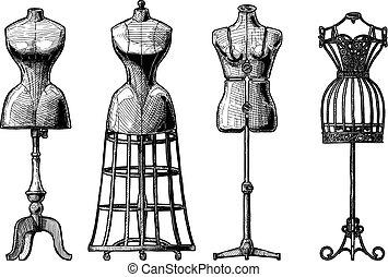 ensemble, forme robe