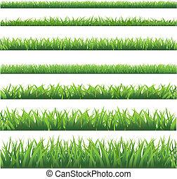 ensemble, herbe, vert