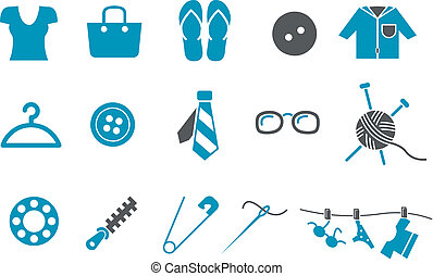 ensemble, icône, habillement
