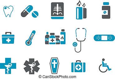ensemble, icône, santé