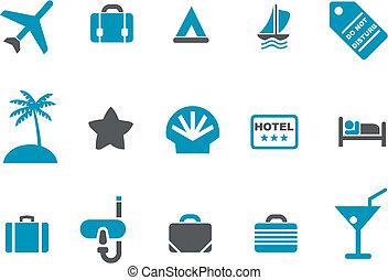 ensemble, icône, vacances