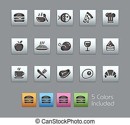 //, ensemble, icônes, nourriture, -, satinbox, 1, 2