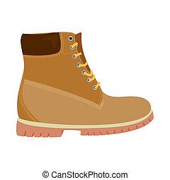 ensemble, illustration., symbole., illustration, bitmap, chaussures, pied, chaussure, stockage