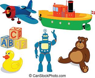 ensemble, jouets