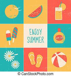 ensemble, jouir de, été