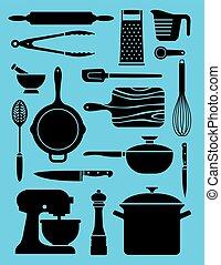 ensemble, kitchenware, 17, illustrations.