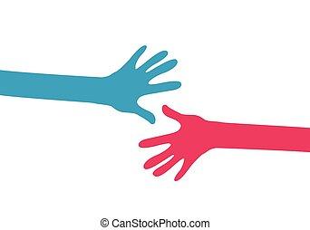 ensemble, mains
