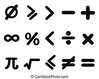 ensemble, math, icônes