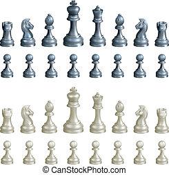ensemble, morceaux échecs