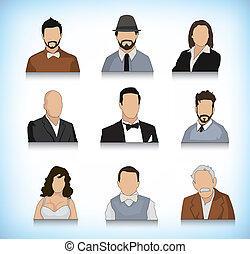 ensemble, neuf, avatars