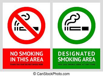 ensemble, non, étiquettes, -, secteur, 9, fumer