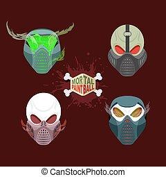 ensemble, paintball, mal, mask.
