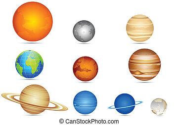 ensemble, planètes