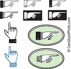 ensemble, pointage, mains