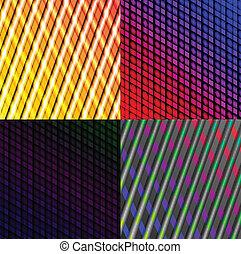 ensemble, résumé, spectre, lines., sombre, vecteur, fond