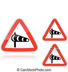 ensemble, sidewind, -, signe, variantes, route