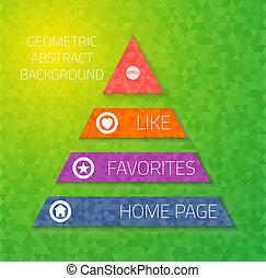 ensemble, triangle, mobile, résumé, illustration, vecteur, utilisateur, sites web, interface, bannières