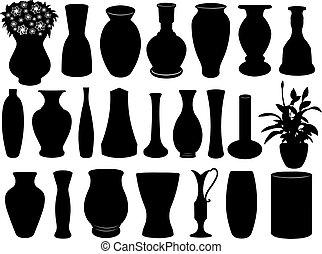 ensemble, vase