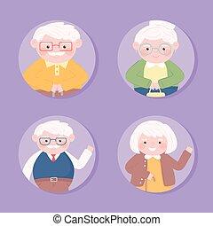 ensemble, vieux gens