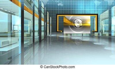 ensemble, virtuel, fond, studio, nouvelles