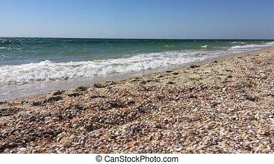 ensoleillé, fond, mer, jour, paysage, vue