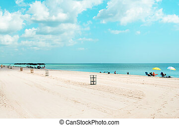 ensoleillé, plage, îles