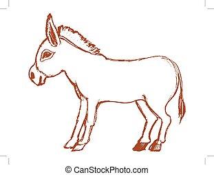 entêtement, âne, symbole