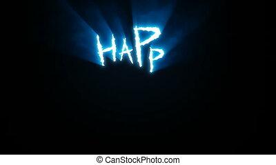 entailles, griffe, bleu, halloween, heureux
