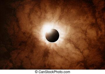 entiers, éclipse, soleil