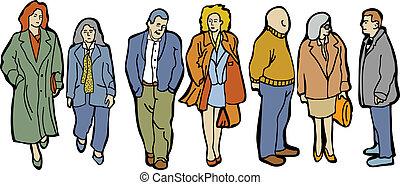 entiers, gens, longueur, groupe