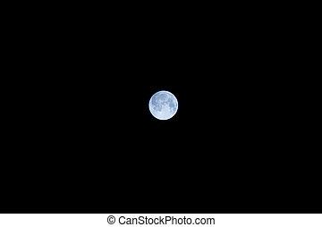 entiers, sombre, sur, lune, ciel nuit