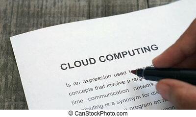 entourer, nuage, calculer