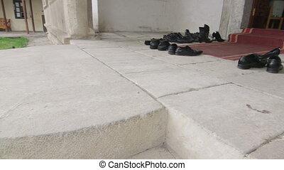 entrée, mosquée, salle, prière