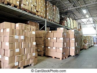 entrepôt, cardboxes
