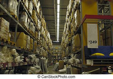 entrepôt, intérieur