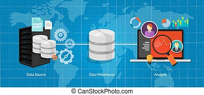 entrepôt, intelligence, données, business, base données