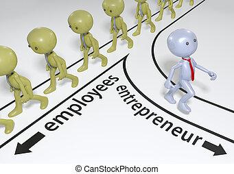 entrepreneur, démarrage, plan, reussite