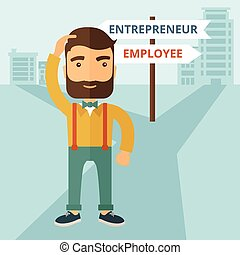 entrepreneur, employé