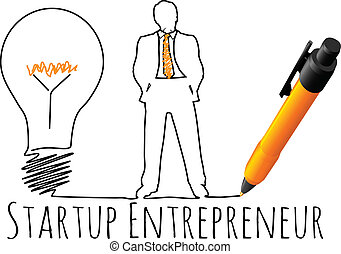 entrepreneur, modèle, démarrage, business