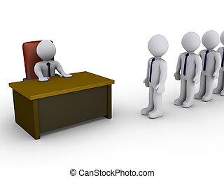 entrevue, bureau