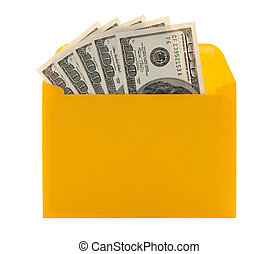 enveloppe argent, jaune