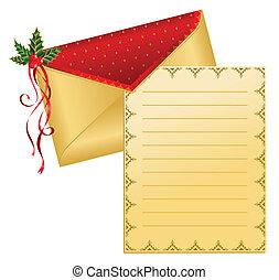 enveloppe, noël, celebratory