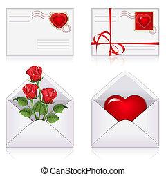 enveloppes, ensemble