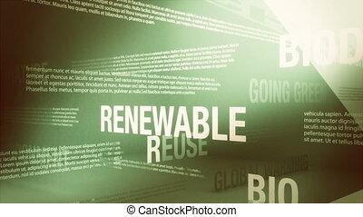 environment/green, apparenté, mots