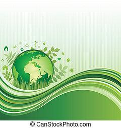 environnement, arrière-plan vert