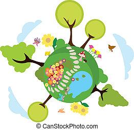 environnement, la terre, fond