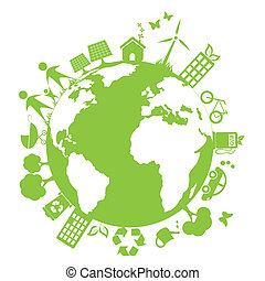 environnement, vert, propre