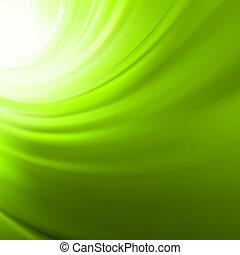 eps, torsade, flow., arrière-plan vert, 8